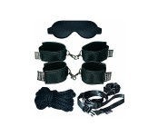 Super set de bondage Soft-Bond-X noir