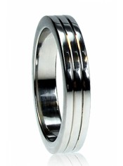 Cockring Ribbed acier